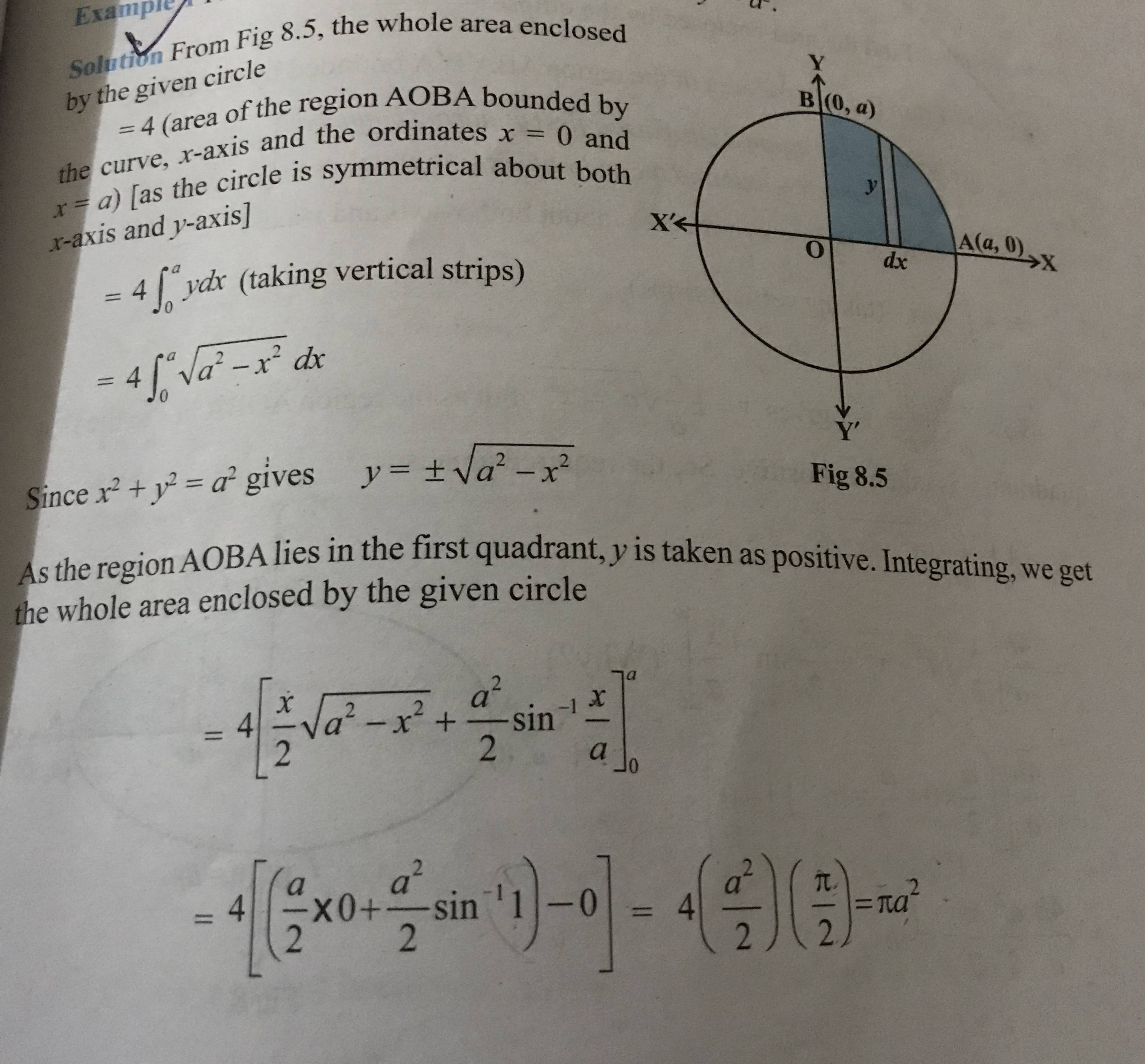 Calculus Proof For The Area Of A Circle