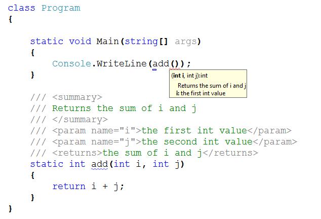 Screenshot of my VS2010 when calling method ADD