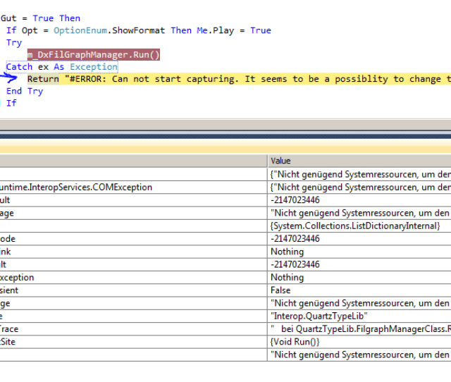 100 X Catch E As Exceptionhere 123 Is Not Working If E Is Arithmeticexception123 Then Console Writelinegeneric Exception Handler 0 E