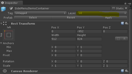 UI Object Configuration