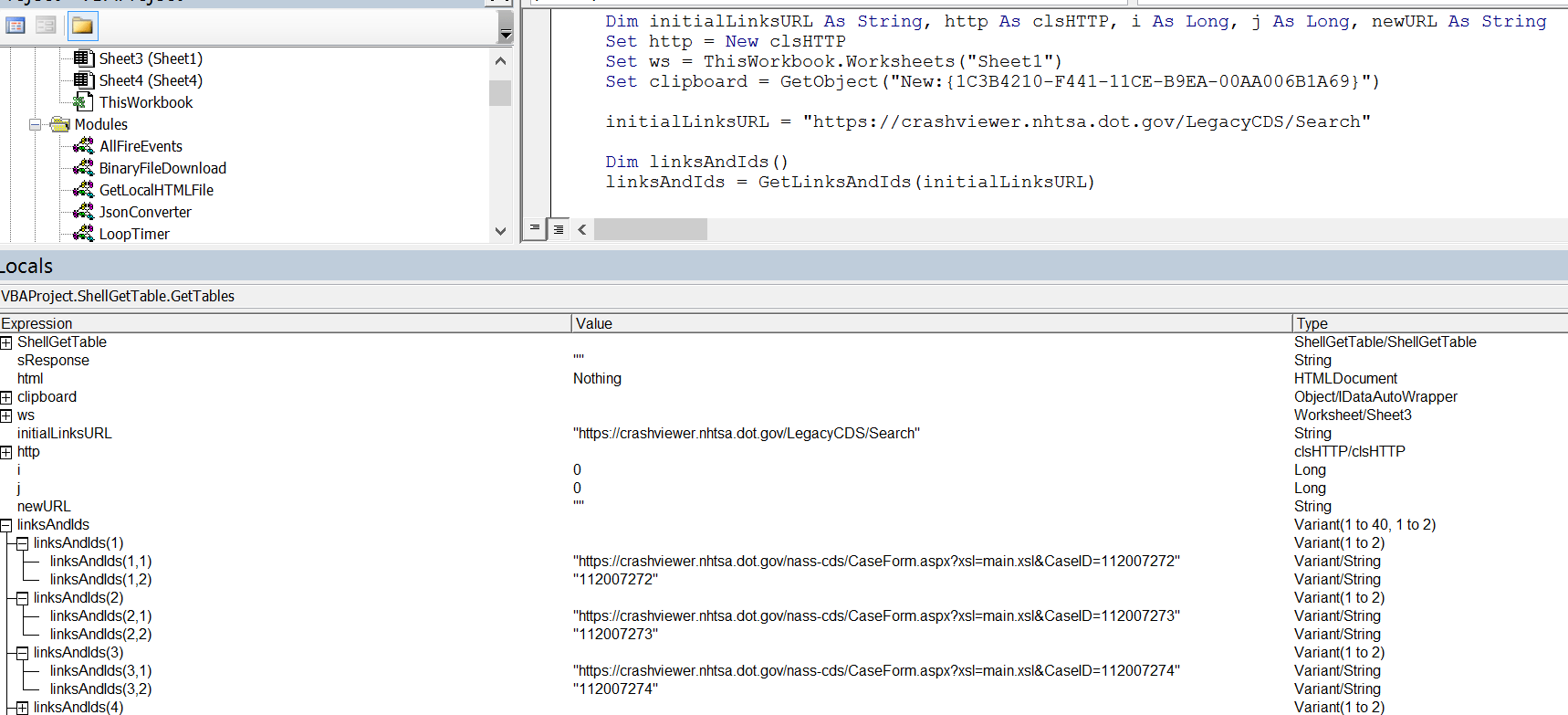 Vba Cannot Get Data From Html With Telementsbytag Nor