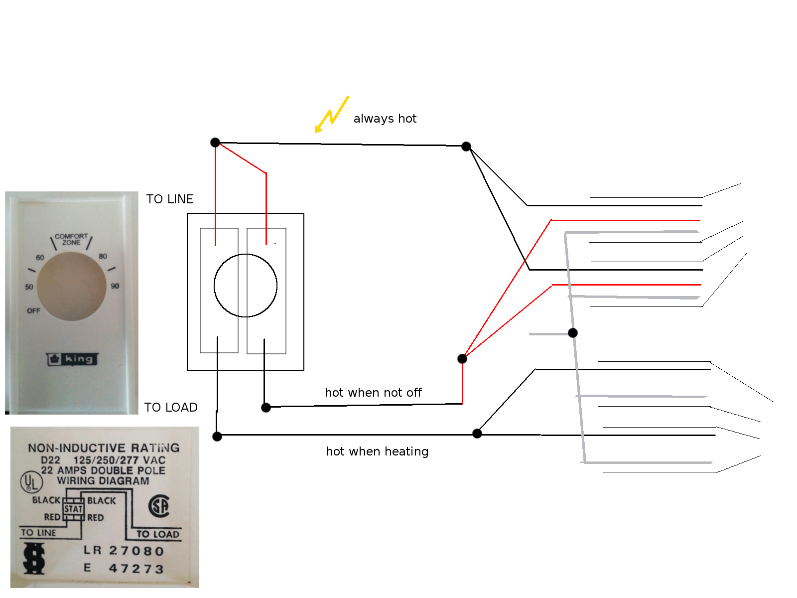 Installing Double-pole Line-voltage Thermostat