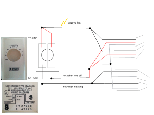 wiring  Installing doublepole linevoltage thermostat  Home Improvement Stack Exchange