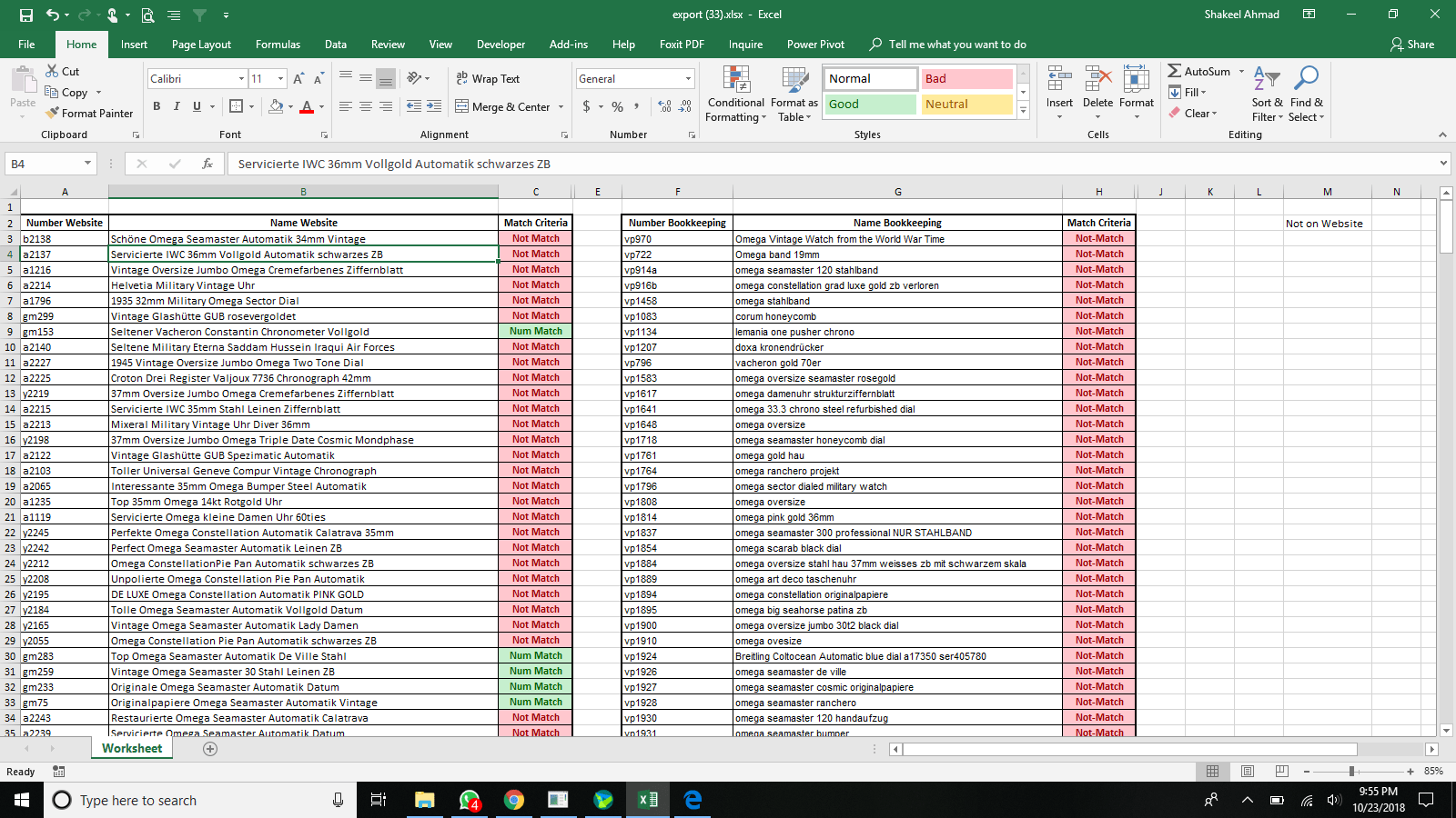 Arrange Data That Contain Matching Vlaue In Excel