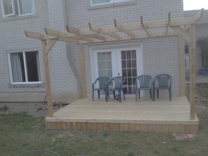 Deck How Do I Improve Pergola Stability Home