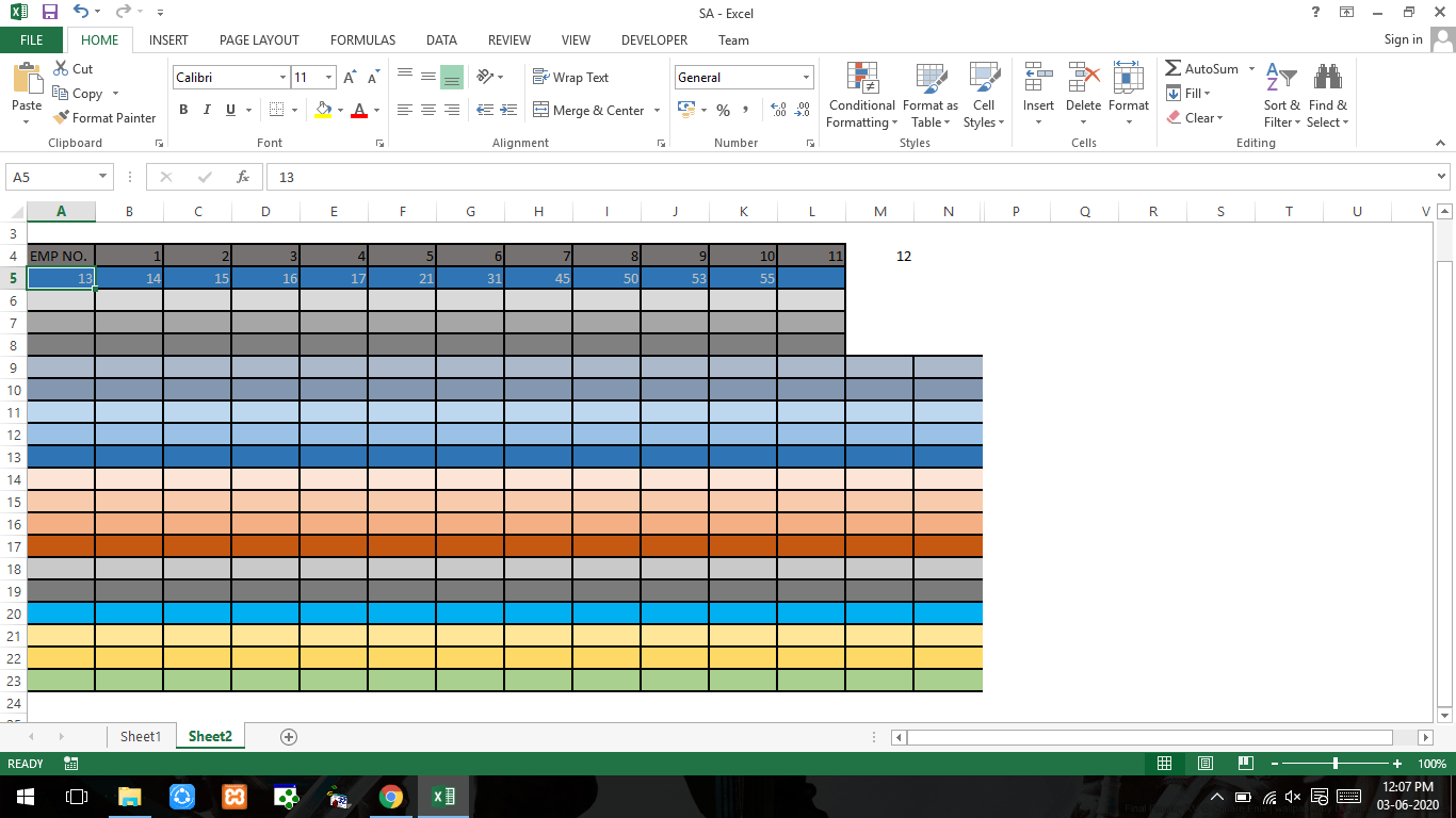 Pasting The Checked Items Of A Sheet To The Colored Cells