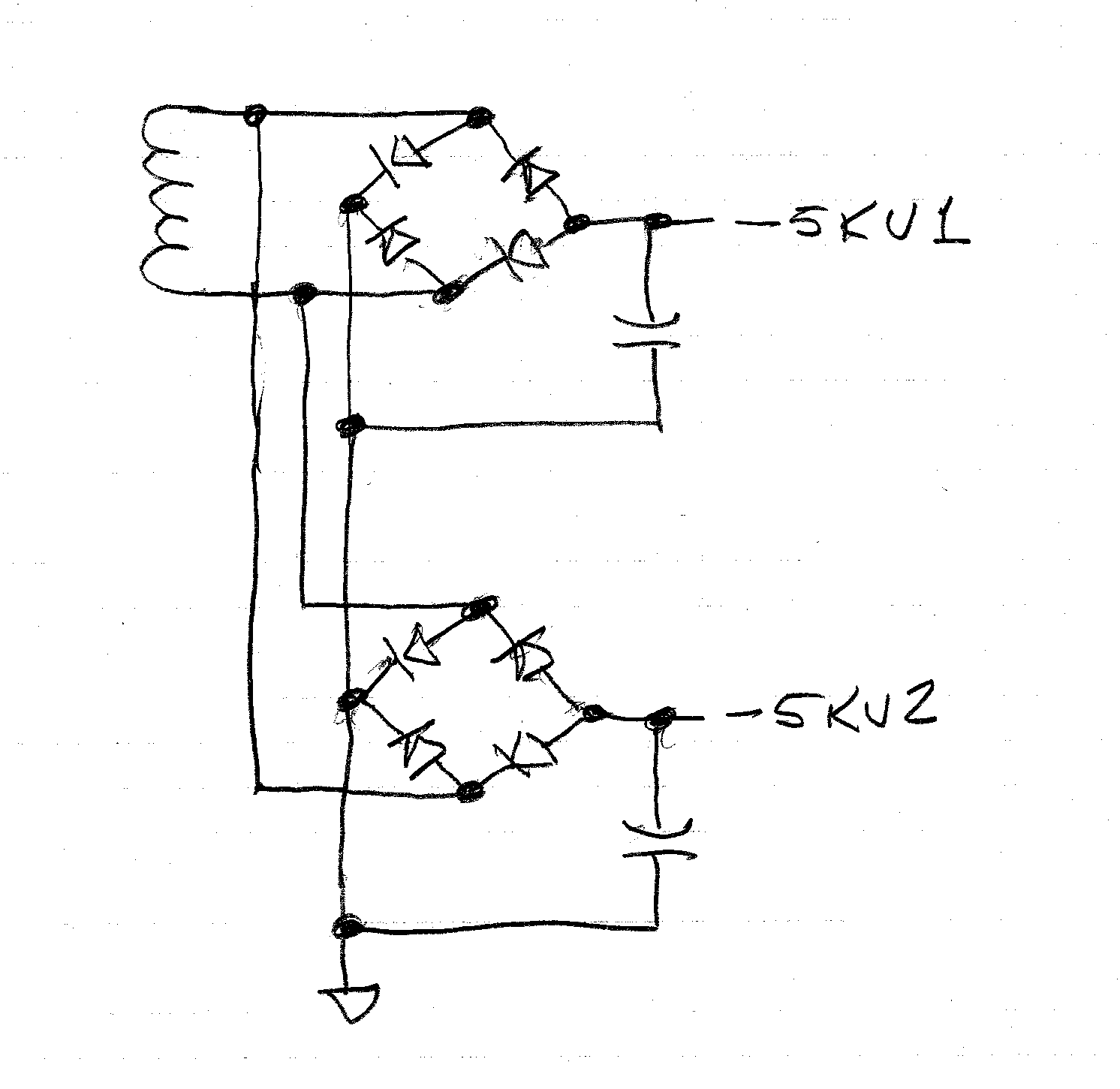 High Voltage Negative Power Supply From Positive Supplies