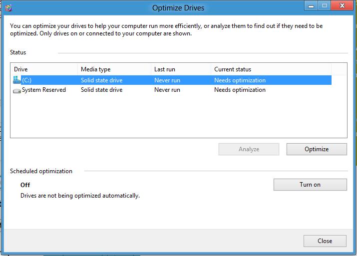 Image result for Defragment and Optimize Driveswindows 8.1