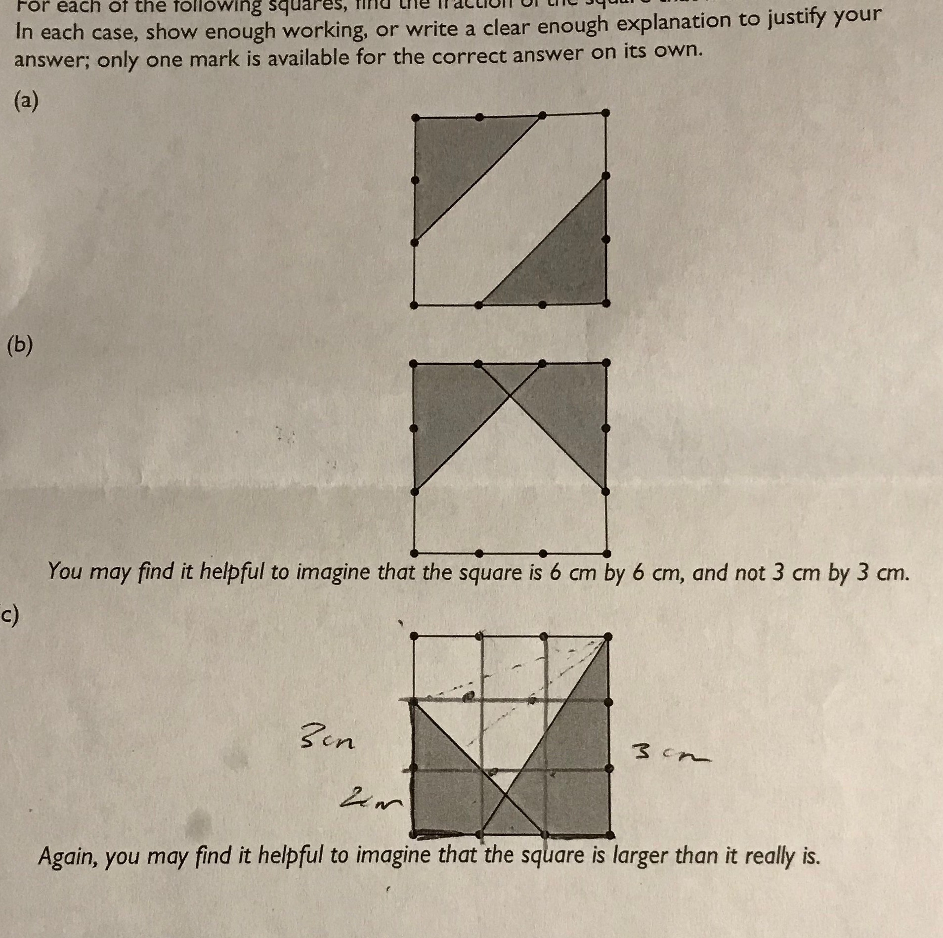 Area Of Shaded Region Worksheet Answers