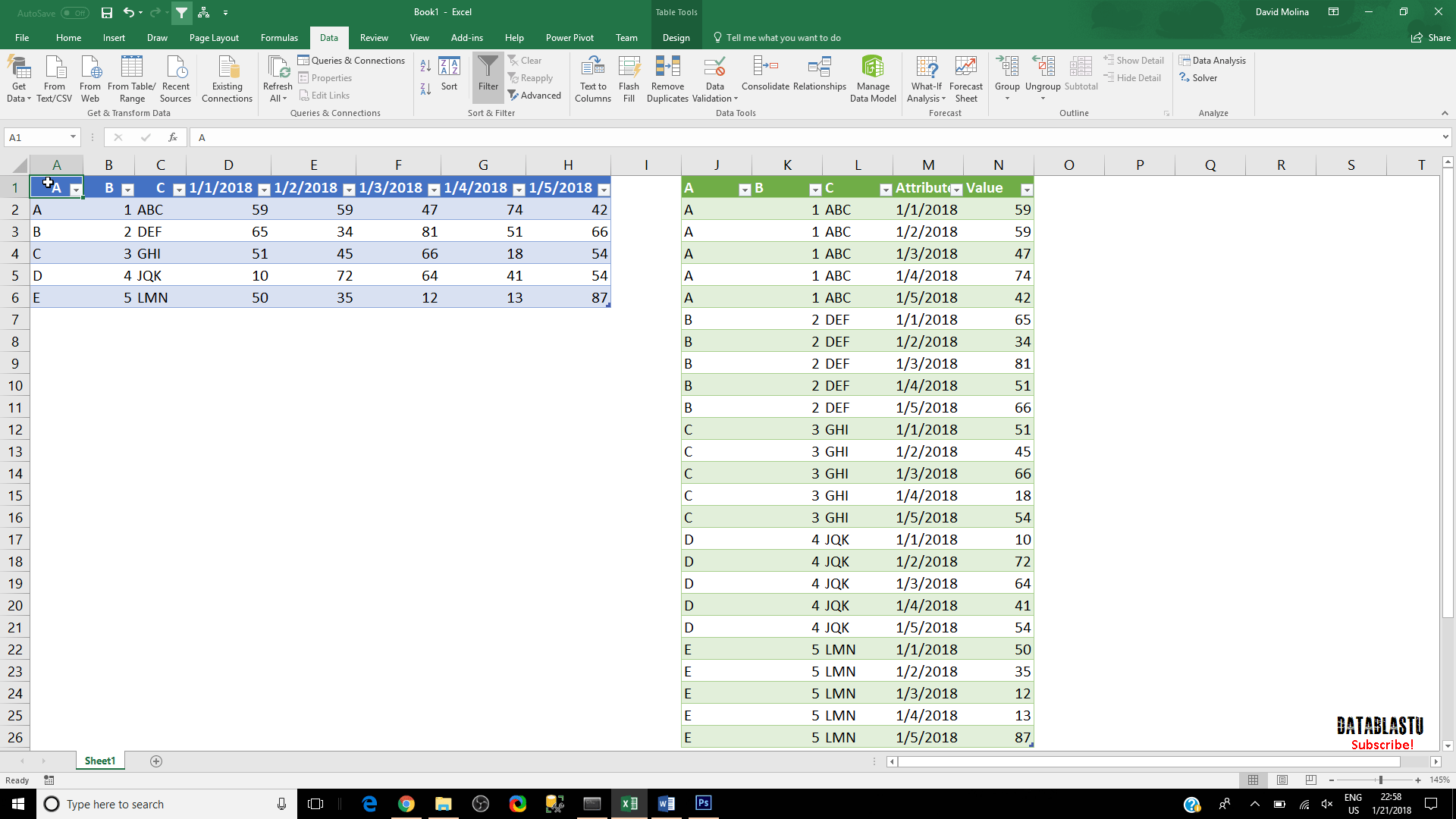 How Do I Convert This From Horizontal To Vertical In Excel