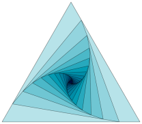 The vertices of an equilateral triangle are shrinking towards each other -  Mathematics Stack Exchange