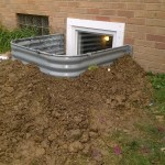 How Far Does A Basement Egress Window Well Need To Stick Out Above Ground Home Improvement Stack Exchange