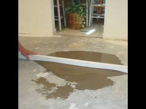 how can i prepare uneven concrete