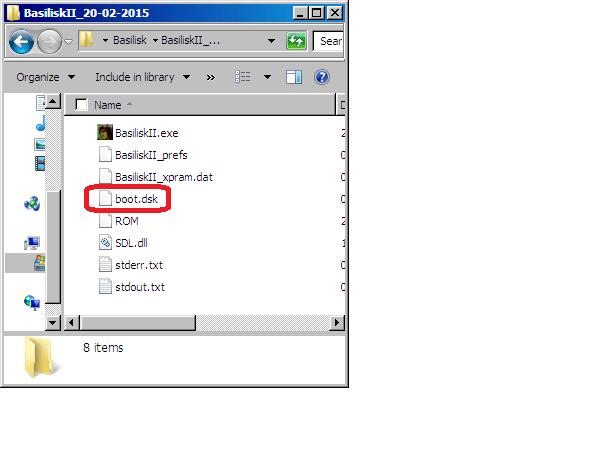 Rename disk image file