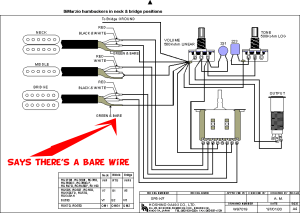 guitar  bare wires from pickups in ibanez diagram