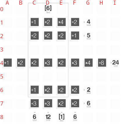 screenshot of unsolved puzzle 25 of the game CrossCells