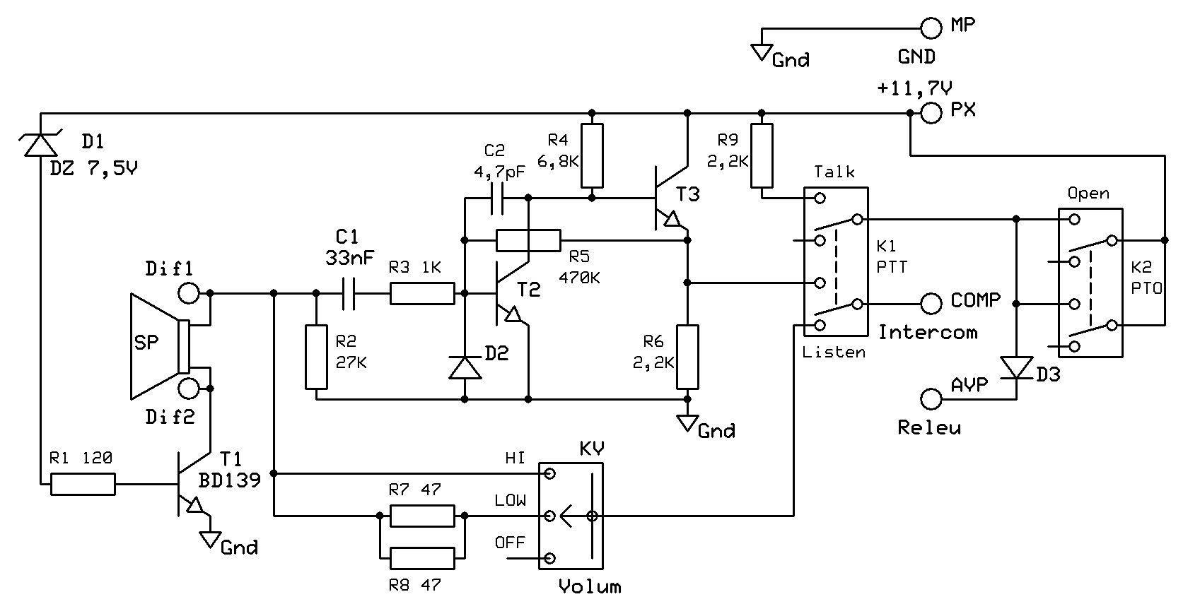 6dj8 Preamp Schematic