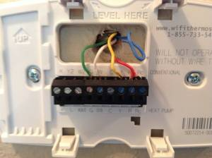 electrical  Installing of Honeywell WiFi Programmable