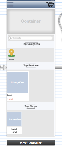 i Have tools on  Scrollview in viewcontroller as shown in images