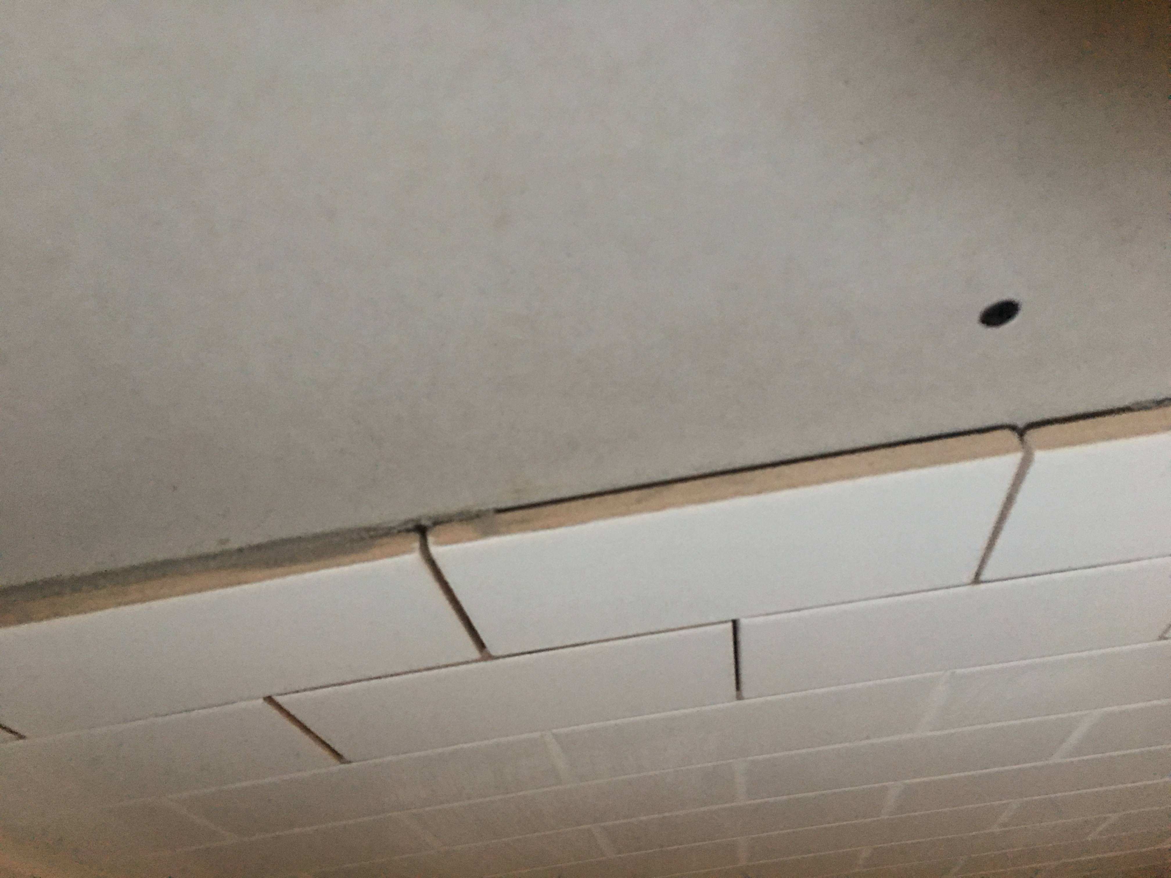 tile and drywall flush