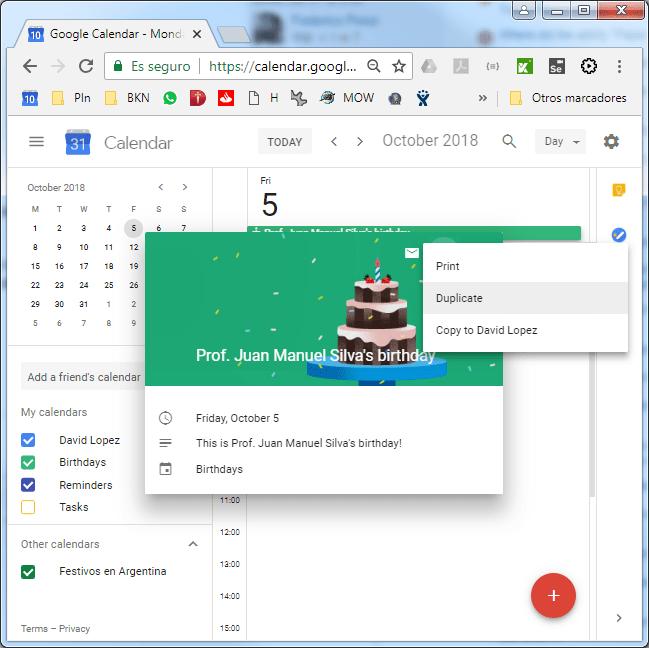 Birthday Notifications On Google Calendar Web Applications Stack Exchange
