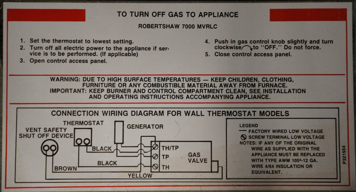 Williams Wall Heaters Manuals Heater Thermostat Wiring