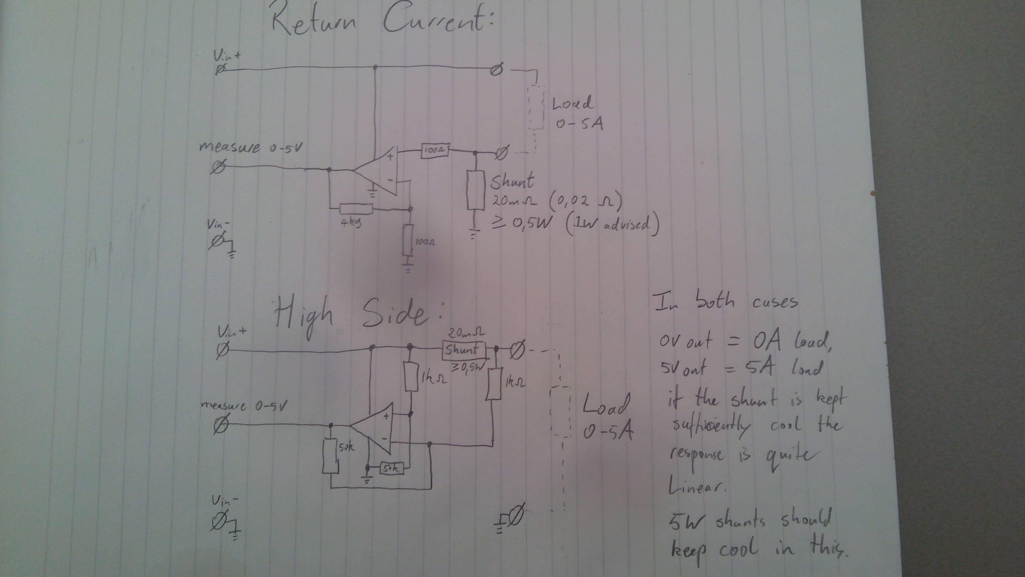 Arduino Current Sensor Measuring Circuit Electrical