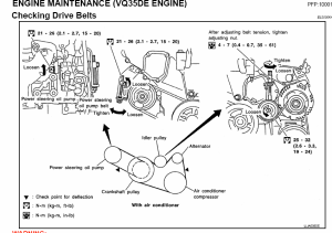 nissan  Identifying sound from pulleys to replace