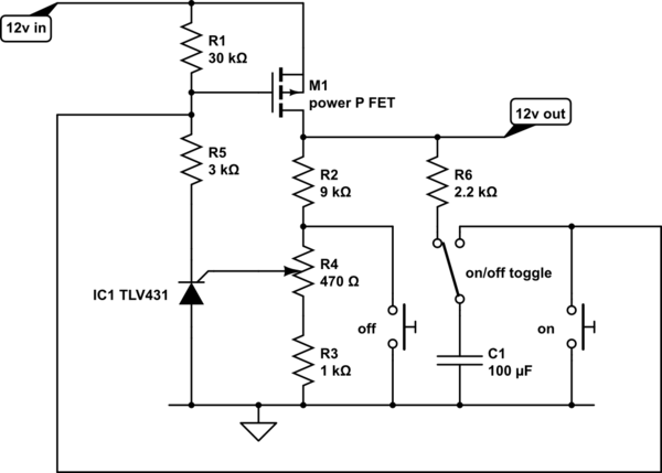 Cut-off Circuit For 12V Battery