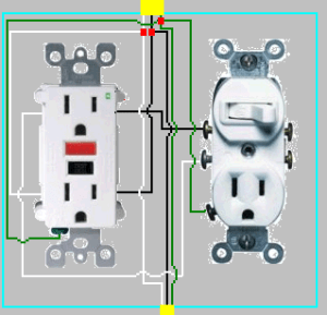 electrical  How to add GFCI to a box with one outlet controlled by a switch?  Home Improvement
