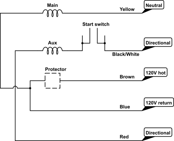 How To Wire A 5-leads Single Phase
