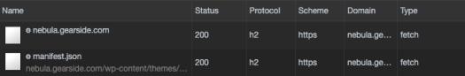 HTTP2 working in DevTools