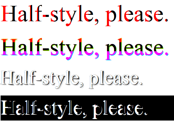 halfStyle - Multiple on Same Page