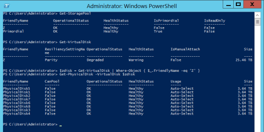 Powershell output - see text copy below