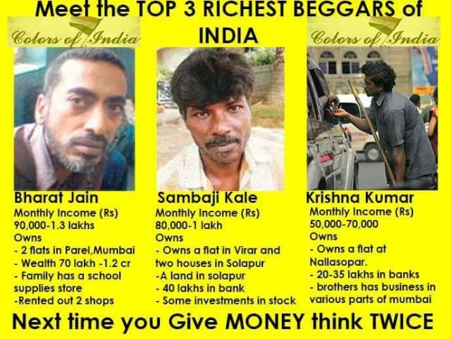 Image result for richest beggars in india