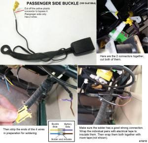 wiring  VW Mk4 GolfGTI airbag indicator warning light