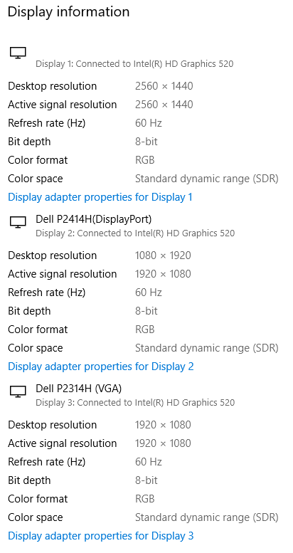 display specs attached here