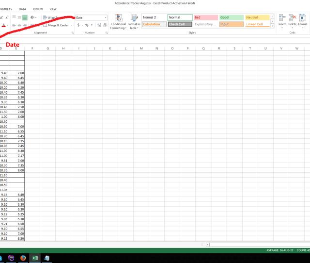 Date In Excel Sheet Enter Image Description Here