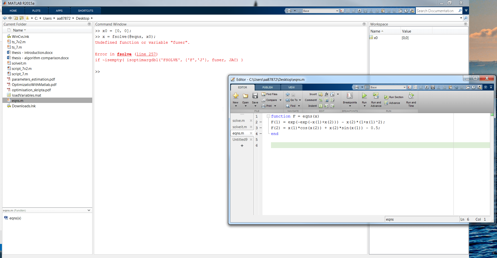 How To Input System Of Linear Equations In Matlab