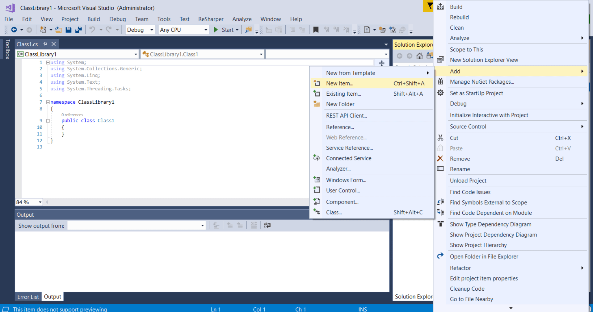 Unable To Add Appnfig File In Visual Studio