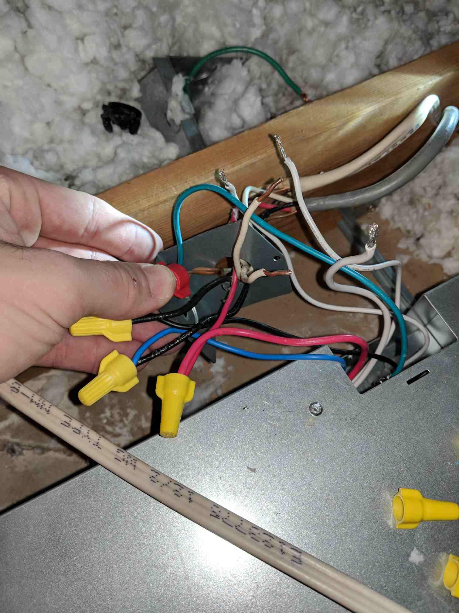 wiring a heater vent fan light for