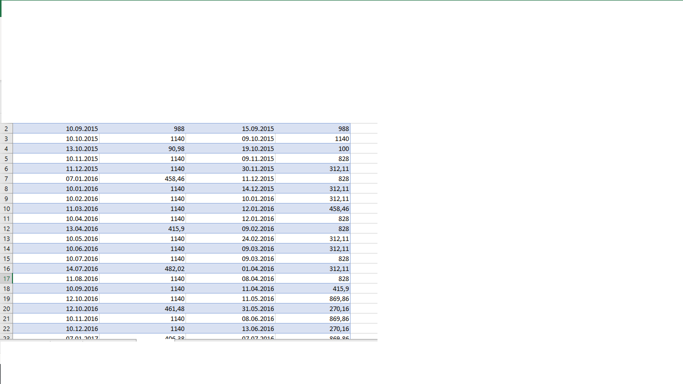 Excel Vba Table Values Does Anyone Know How To Write In