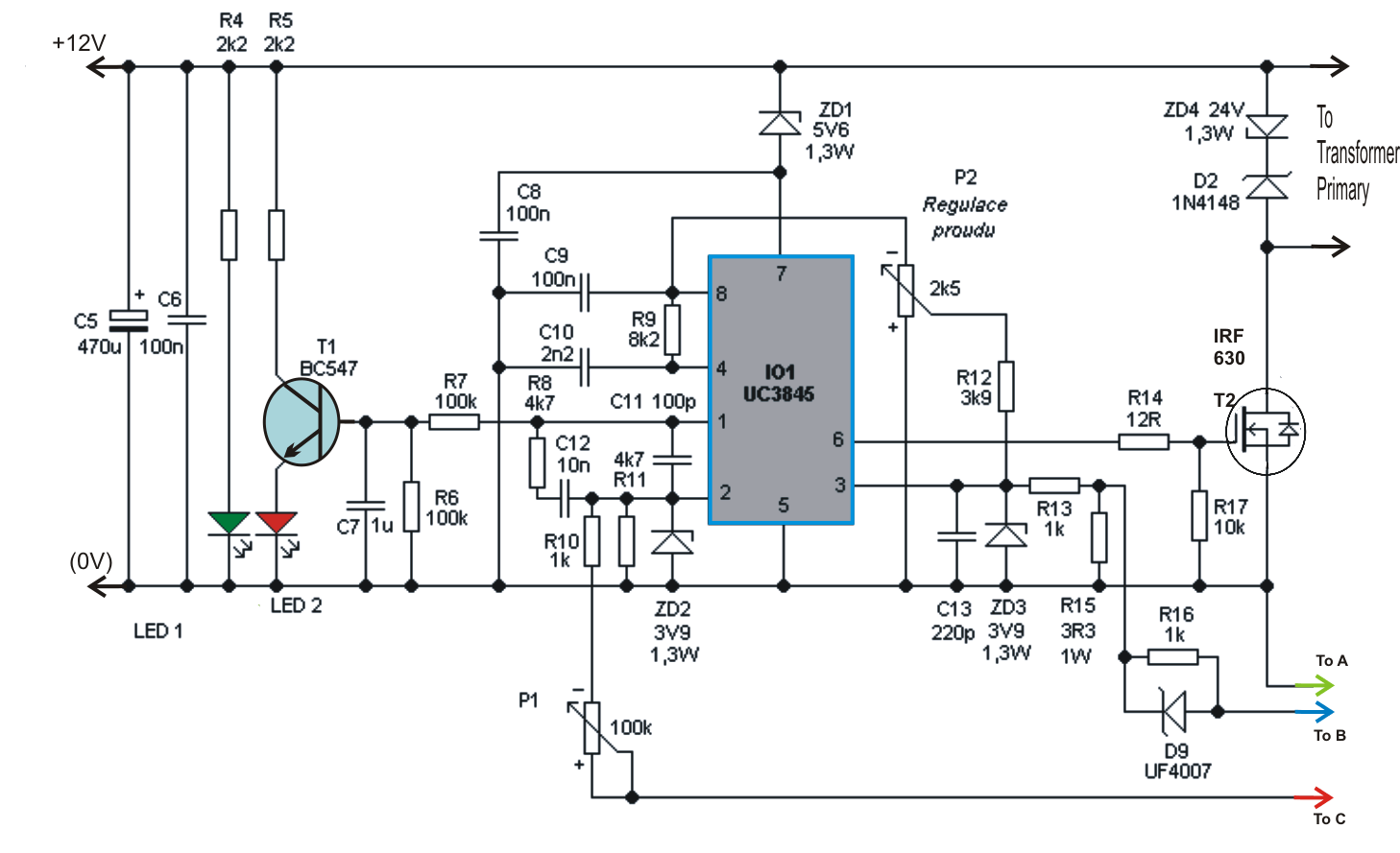 Lm317 Circuit With Battery Charger For 12v Diagram