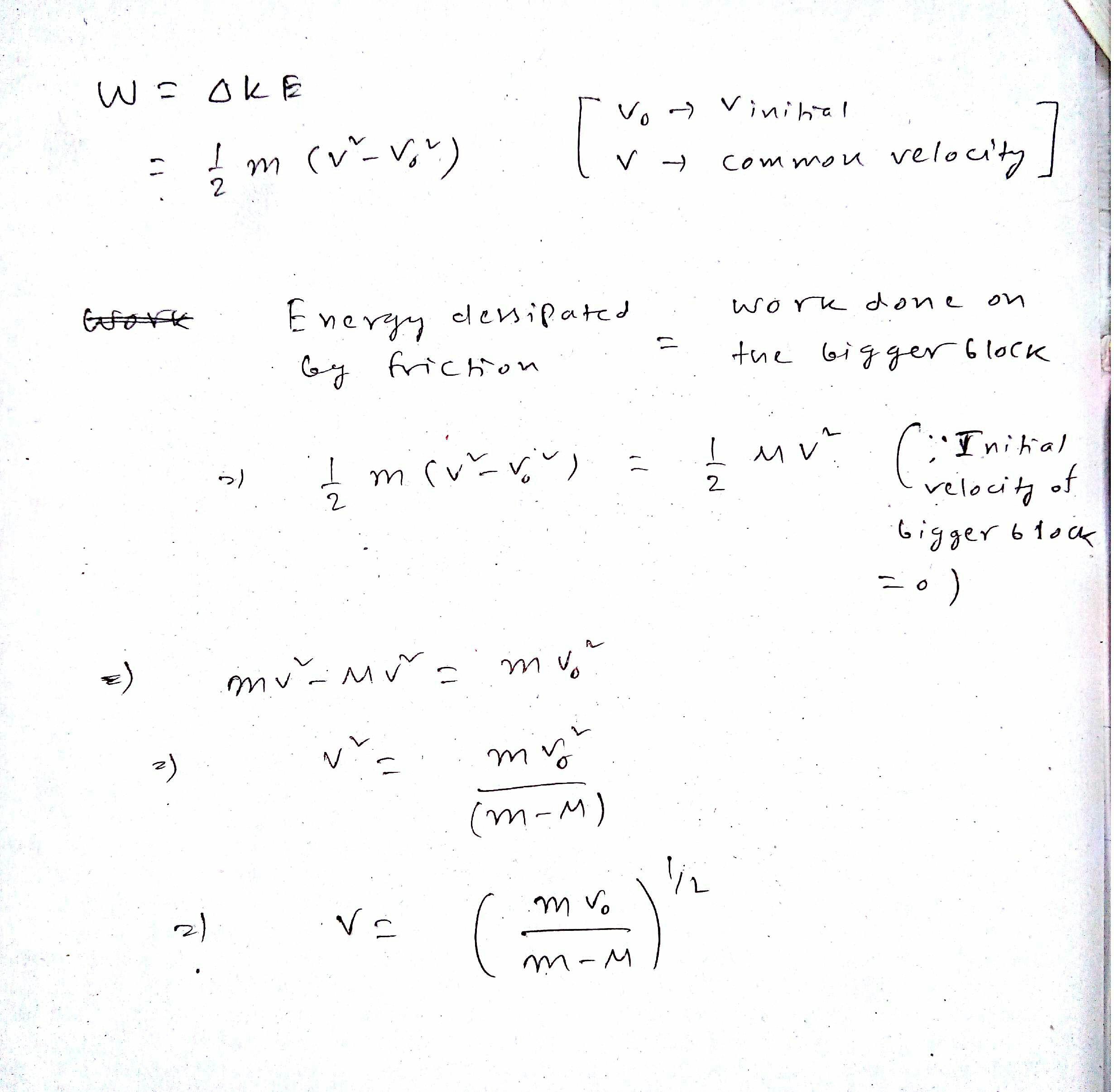 Work Kinetic Energy Theorem Formula