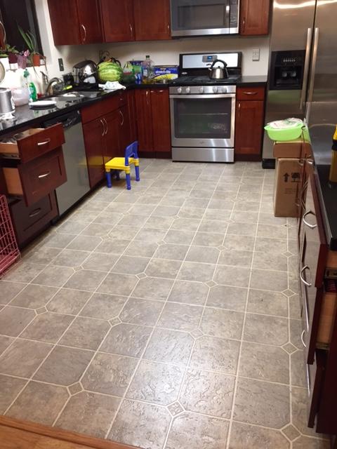 install tiles on top of laminate floor