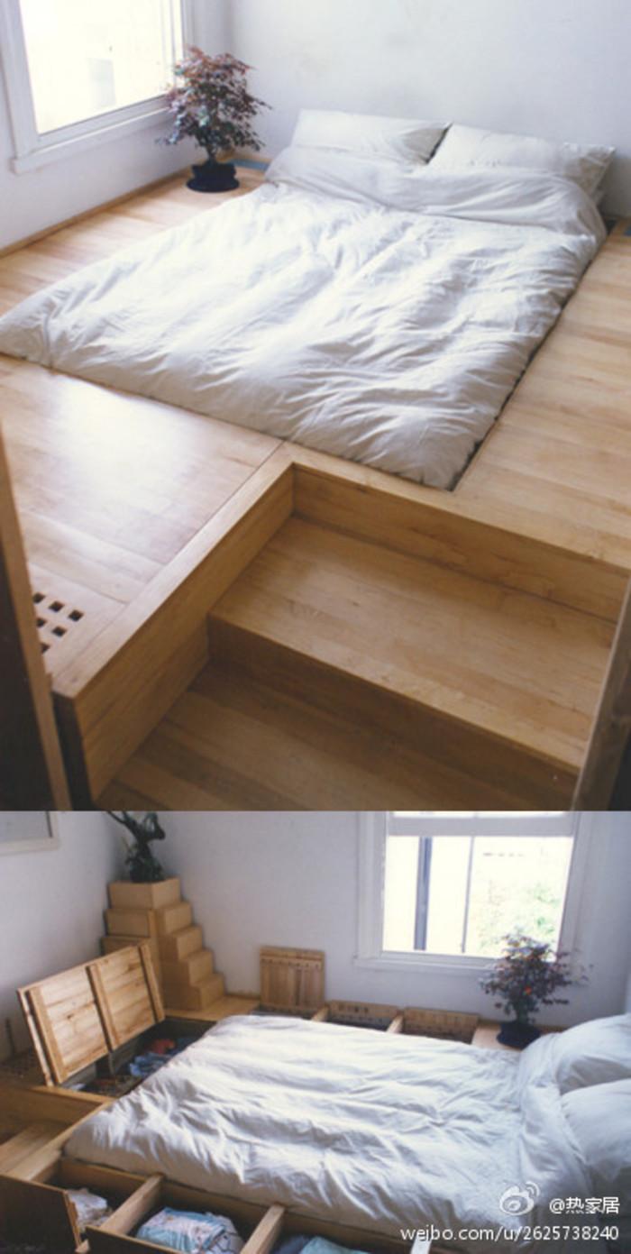 Raised Platform Around Bed With Built In Storage Woodworking Stack Exchange