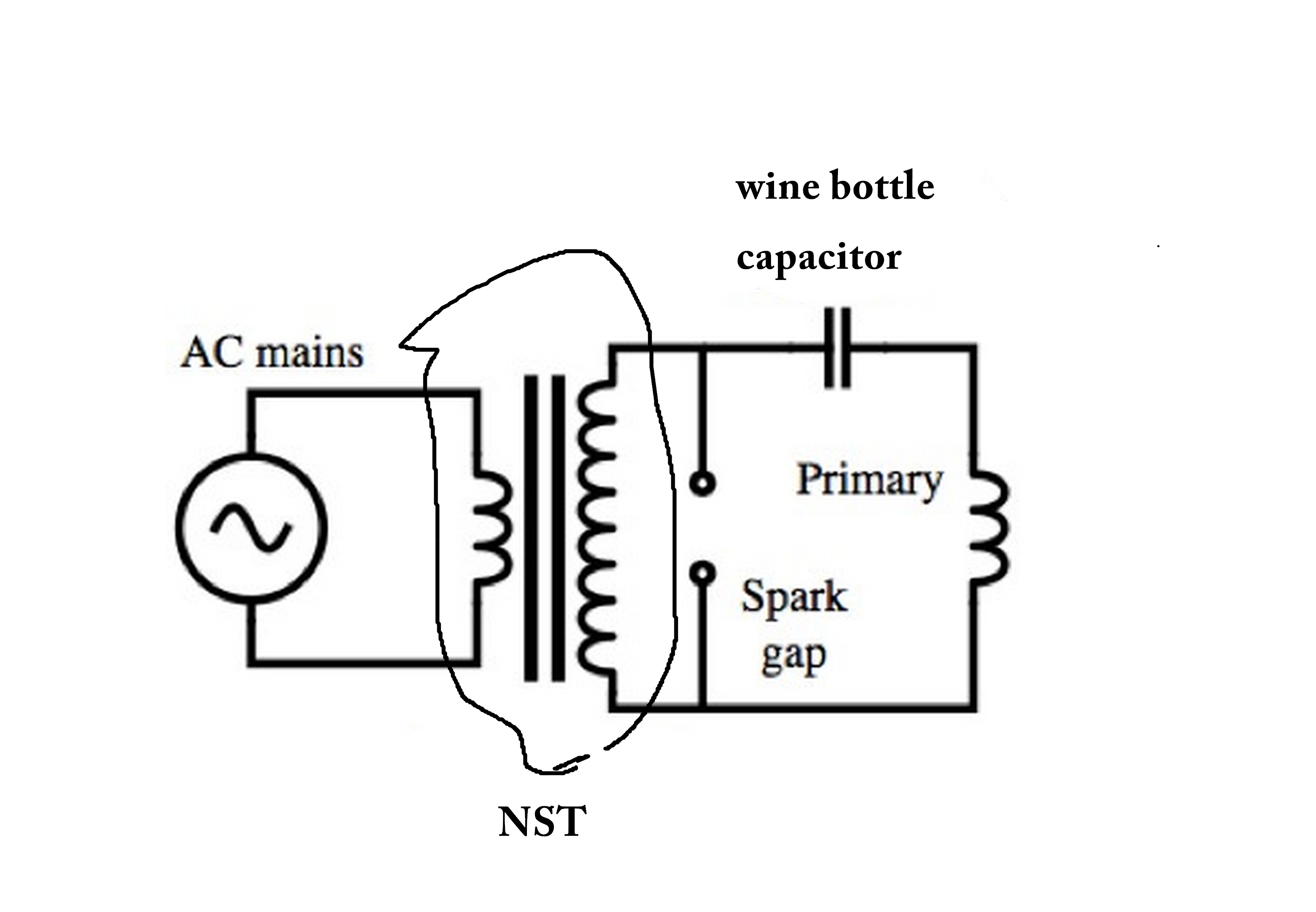 Mini Tesla Coil Circuit Diagram