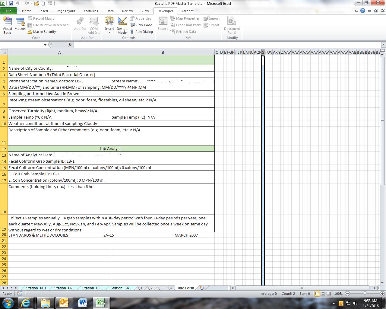 Accounting Worksheet Heading