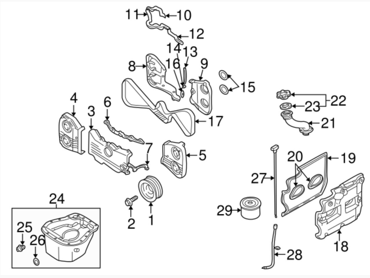 Filte Subaru Ez30d Diy Timing Chain