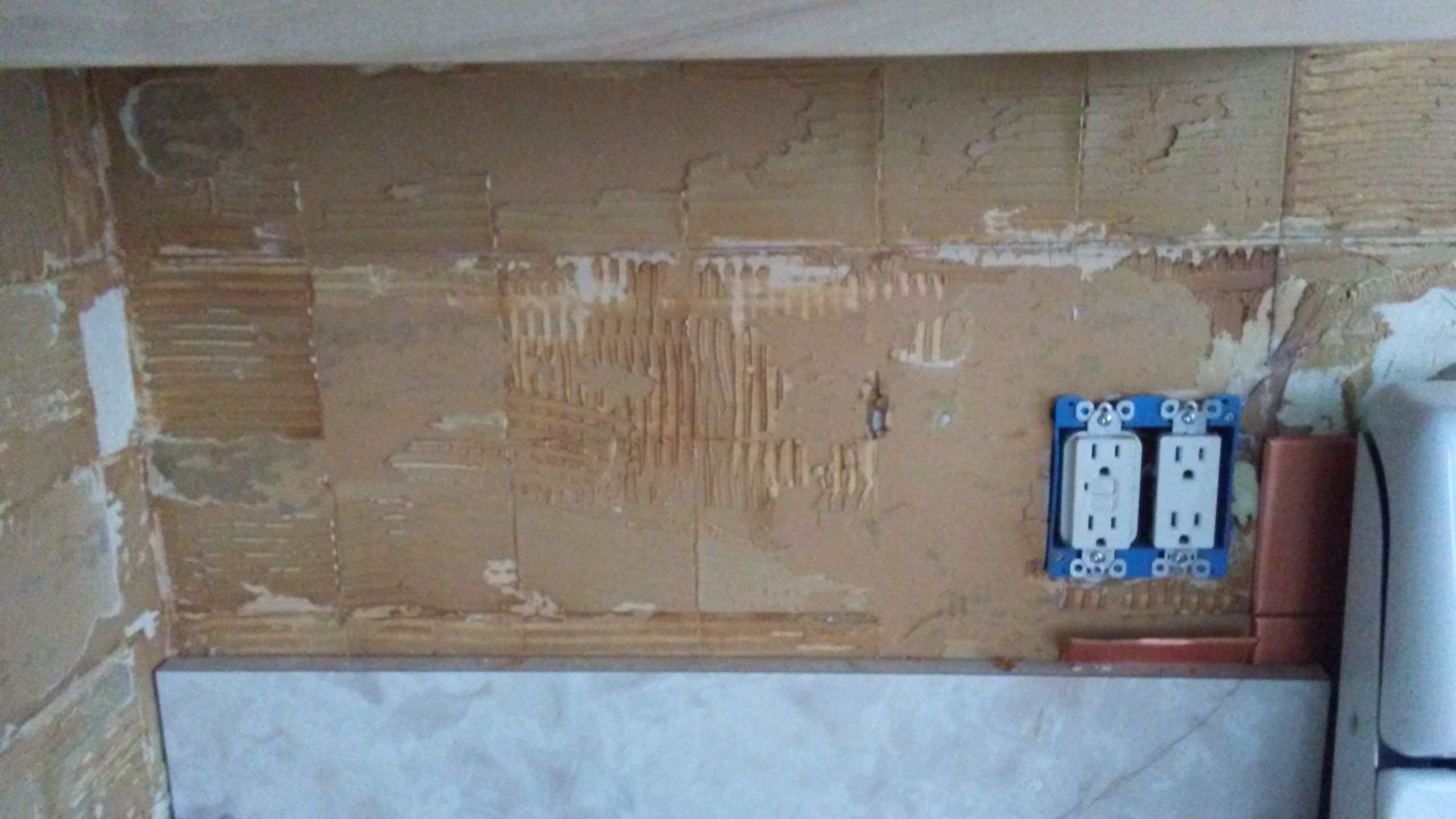 Walls How To Remove Metal Tile Adhesive From